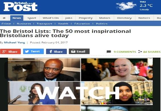 Top 50 Inspiring Bristolians