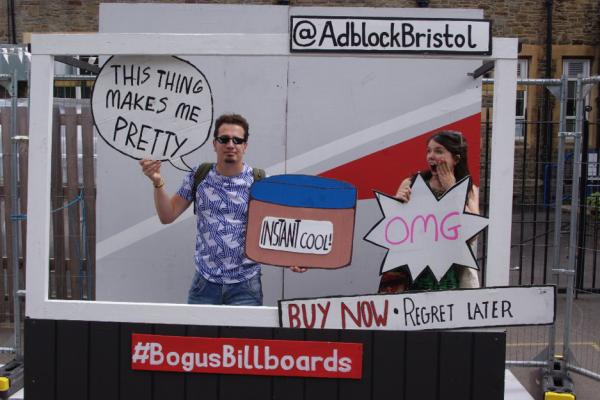 Bogus billboard at Upfest